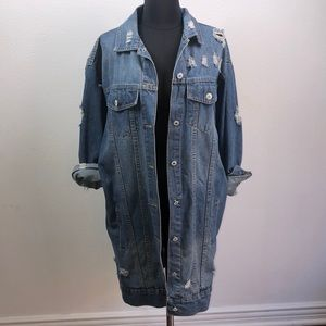 Before You Collection oversized jean jacket